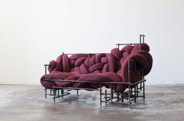 Red Lawless Sofa - Evan Fay